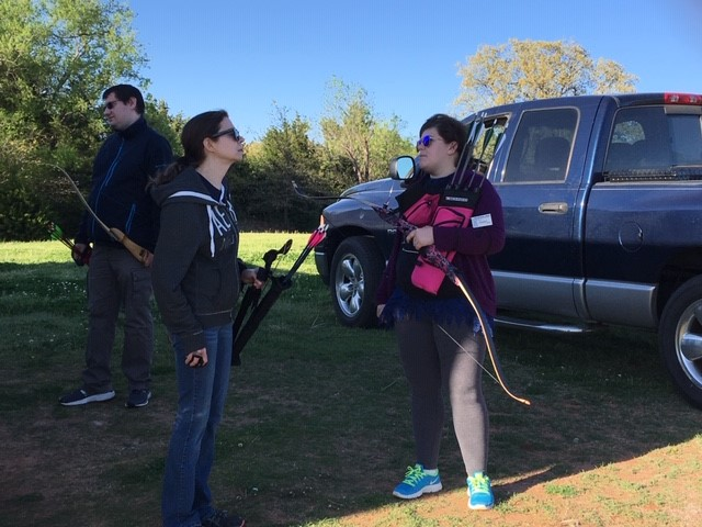 DEQ Employees at an Archery event