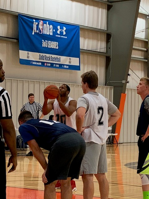 Basketball league game between Attorney General's Office and OSBI