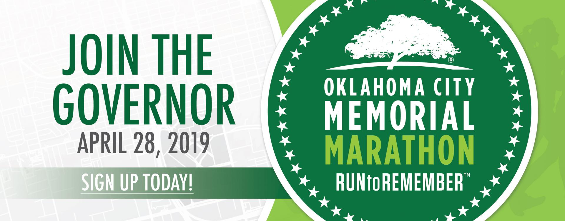 Join the Governor on April 28, 2019 for the Oklahoma City Memorial Marathon Run to Remember. Sign up today!